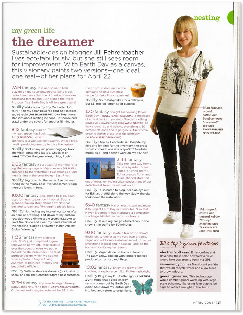 Jill Fehrenbacher, Domino Magazine, style, home, decorating, Earth Day, sustainable fashion, ethical fashion, New York City, NYC, jill_domino2.jpg