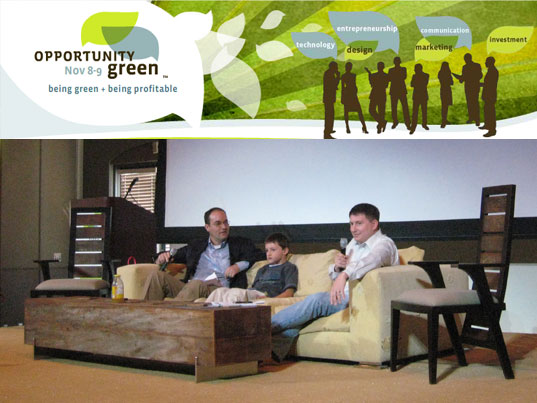 Opportunity Green, Sustainable Innovation, Patagonia, Nike, EcoFabulous, green conference, russ walker, matt kahn