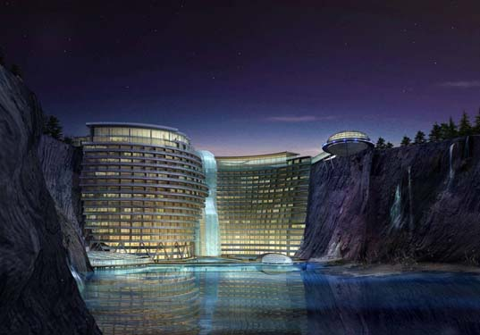 hotel, china, quarry, geothermal, green roof, Songjiang Hotel, Songjiang, sustainable, green, water, atkins