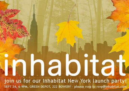 Inhabitat NYC Launch Party