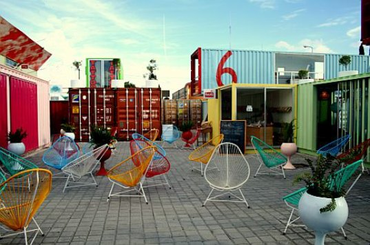 sustainable design, green design, shipping containers, shipping container architecture, Mexico, Container City, container restaurant, shipping container restaurant, recycled materials