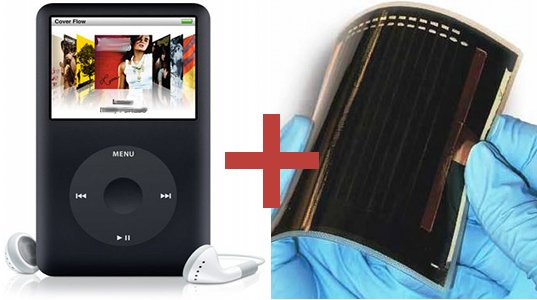 solar ipod, solar ipod patent, patent, solar powered, solar powered ipod, apple, thin film solar