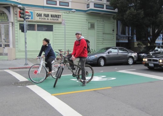 bike box, san francisco, cyclists, bikers