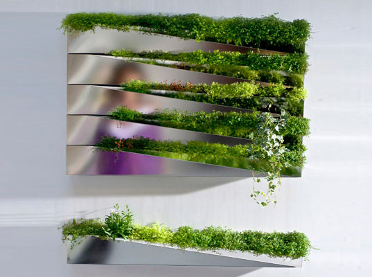 reader tip grass mirror planter wall adds green to any