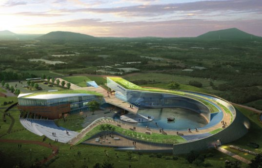 sustainable design, green design, kyungam architects, jeju world natural heritage center, UNESCO Site, South Korea, Jeju Island