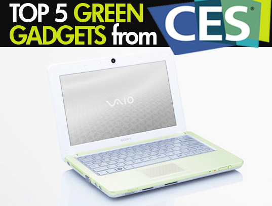 sustainable design, green design, top 5 green gadgets at ces, consumer electronics show
