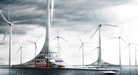 turbine city, wind power, sustainable design, eco design, green design, clean energy, stavenger, norway, on office