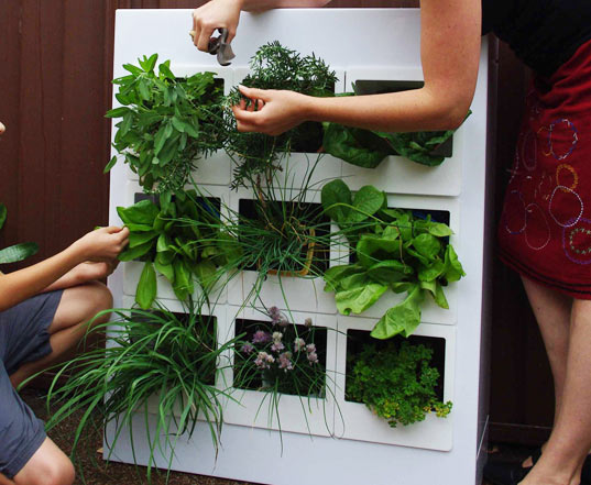 Freestanding Garden Tower Provides Green Space For 50 Plants to ...