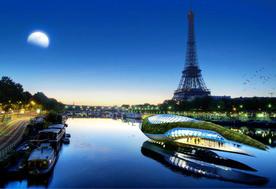 sustainable design, green design, vincent callebaut, physalia, floating garden, water pollution, zero energy, carbon neutral, boat, rivers