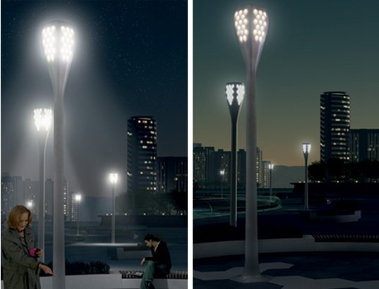 street lights, solar powered light, solar powered street light, city lights, LED, LED lights, Phillips