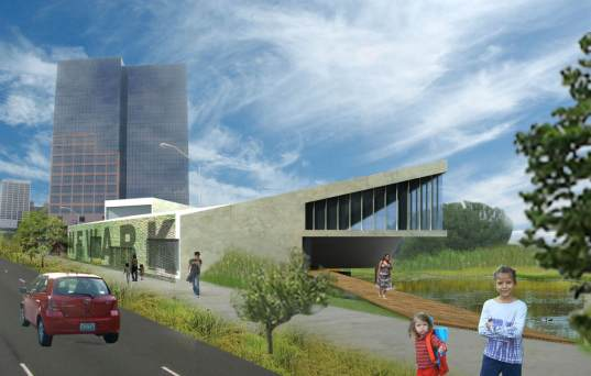 newark, new jersey, newark visitor center, architecture competition, reclaimed materials, community development, super interesting!,