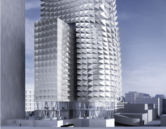 """wind power"", Austria, Coop Himmelb(l)au, energy-active façade, MIPIM, MIPIM Architectyre Review, Solar Power, Sustainable buildings, Town Town Office Tower"