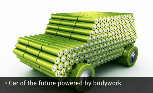 sustainable design, green design, car body battery, energy storing car body material, electric vehicles, sustainable transportation, new materials