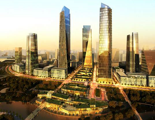 sustainable building, green design, green architecture, beijing, SOM, gateway to beijing, geothermal, public transportation, reduced carbon emissions, city center, sustainable urban development, urban design