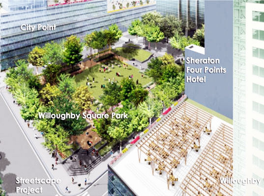 sustainable design, green design, nyc, new york city, brooklyn, citypoint mall, albee mall, public space, city planning, urban development, leed mall, sustainable architecture, cook + fox architects