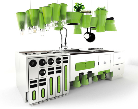 sustainable design, green design, green interiors, ekokook, eco kitchen, faltazi, efficient design, kitchen of the future