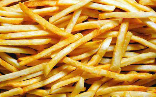 french fries, acrylamide, starch, food production, mcdonalds, green design, sustainable design, green design, sustainable food
