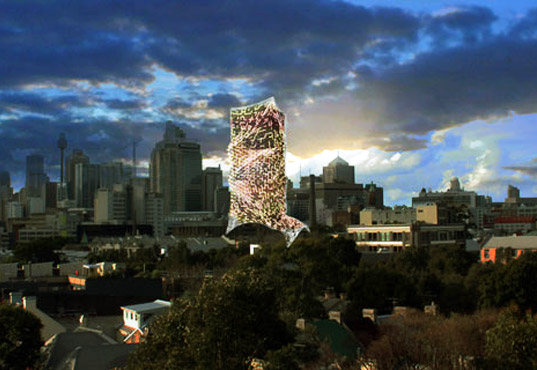 green design, University of Sydney tower, LAVA architecture, UTS tower redesign, UTS tower ecoskin, green design, sustainable design, eco design, photovoltaics, rainwater