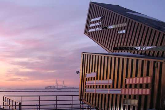 shipping containers, korea, south korea, incheon, reuse, recycled materials, harbor observatory, observatory