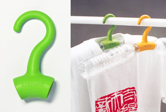 sustainable design, green design, green products, pet bottle hanger, rethink hanger, recycled materials