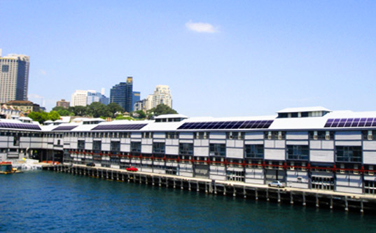 sydney theatre company, solar cells, cate blanchett, peter garret, largest pv installation in australia, solar power, solar photovoltaic, green design, sustainable design, eco design