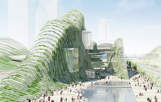 Green Covered Taipei Music Center by Mario Bellini Architects, taiper pop music center, mario bellini architects, green design, eco design, sustainable design, green architecture