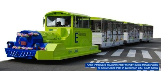 kaist, ev, electric vehicle, inductive charging, south korea, seoul, green design