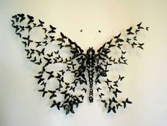 beer can butterflies, recycled beer cans, recycled can art, eco art, paulvillinsky, recycled materials