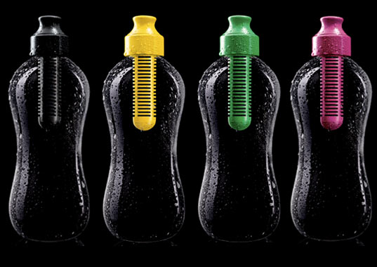 water bottle, plastic bottle, plastic, recycle, recyclable, karim rashid, bobble, green design, reusable water bottle, sigg bottle, carbon filter, filtered water