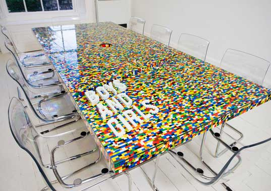 lego, lego sculpture, lego table, lego furniture, furniture, architecture, dublin, boys and girls, abgc