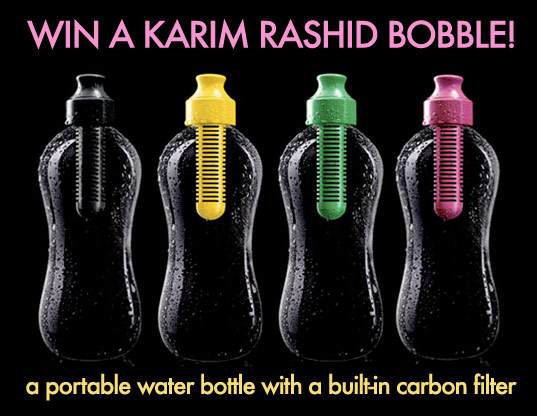 bobble, carbon filter, bobble water bottle, karim rashid water bottle, water filter water bottle, portable reusable water bottle, filtered water, green design, Karim Rashid, plastic, plastic bottle, recyclable, Recycle, reusable water bottle, water bottle, sustainable design, eco design , green design