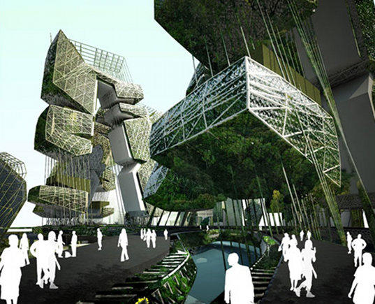 evolo, evolo skyscraper competition, 2010 evolo skyscraper competition, water purification, jakarta, ciliwung recovery project, affordable housing, low-income housing, sustainable building, eco design, green design, pollution, water issues, skyscraper, eco skyscraper