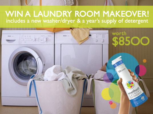 Green Laundry Room Makeover, method laundry detergent, sustainable design, green design, green cleaning, green products, interiors, cleaning