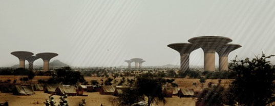 Watertower, H3AR architecture, polish architecture, sudan, architecture for sudan, drought-proof architecture, green architecture, sustainable architecture, eco architecture, green design, eco design, sustainable design