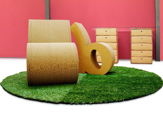 biodegradable furniture, cardboard furniture, font chairs, bold chair, sanserif creatius, recylable furniture, cardboard chair, biodegradable chair, green furniture, green chair, sustainable furniture, sustainable chair, corrugated cardboard