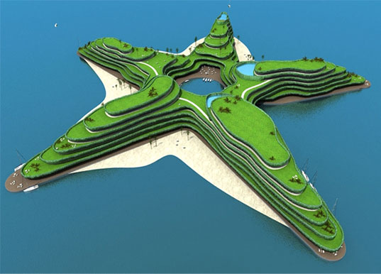 floating island, design for rising seal levels, design for climate change, Koen Olthuis Maldives Island, floating island, waterstudio, floating city, floating resort, green design, eco design, sustainable design, waterstudionl, dutch water valley, dutch docklands