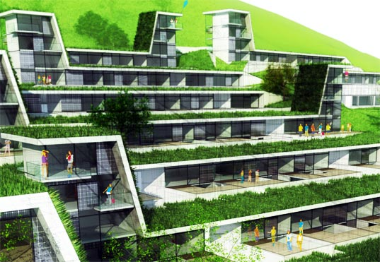 sustainable design, green design, tobias weiss, gernot reisenhofer, green building, green roof, rainwater recycling, austria mountain houses