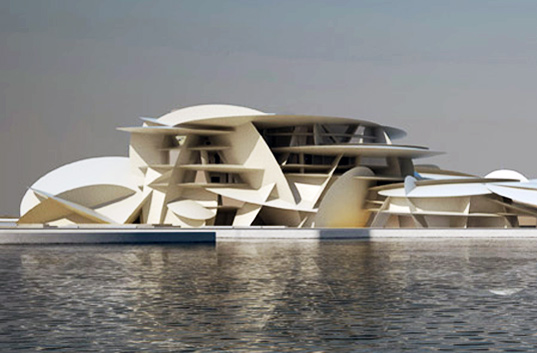 jean nouvel, qatar museum authority, national museum of qatar, qatar, bedouin, LEED certification, LEED silver, native landscaping, desert, desert architecture, eco design, green design, sustainable building