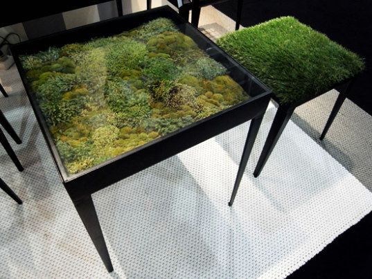 moss table, living furniture, ayodhya, green furniture, organic furniture, plant furniture