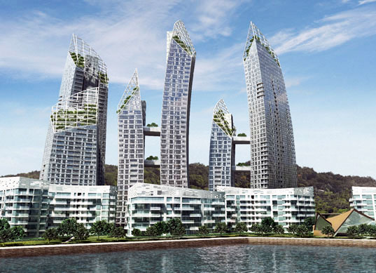 sustainable design, green design, green building, sustainable architecture, daniel libeskind, reflections, singapore, green mark, green building, green design, eco design