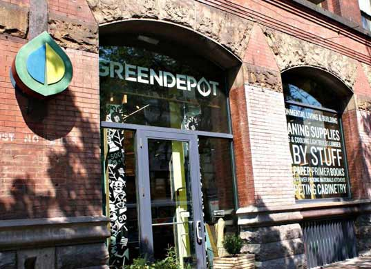 green depot, new york city, new york, LEED, LEED platinum, certification, green hardware store, building, construction
