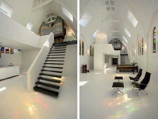 daylighting, adaptive reuse, renovation, green renovation, eco upgrade, zecc architects, utrecht, the netherlands, chapel, catholica chapel, chapel renovation, green design, eco design, sustainable building,
