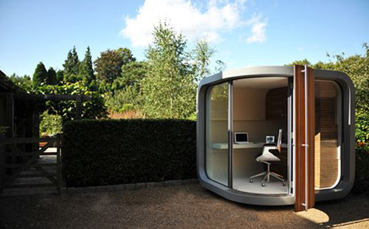 Officepod a high tech garden shed inhabitat for Outdoor office building