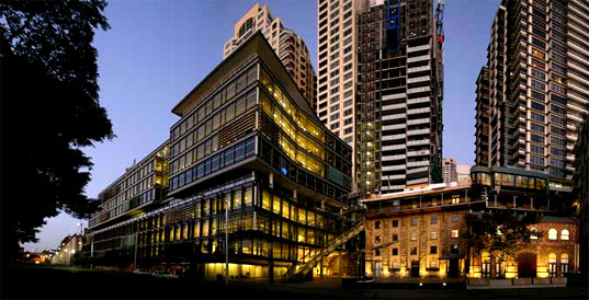 30 the Bond, Bond, 30 The Bond, Sydney's Greenest Building, Sydney Australia, Green Building, Sustainable Design, Lend Lease, Hickson Road, 5 Star Australian Building Greenhouse Rating, Australian version of LEED, Australian Green Building Council, AGBC, PTW Architects, WHO Interior Architects
