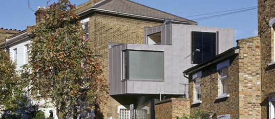 bere architects, focus house, north london prefab, timber, zinc cladding, grand designs, riba london region award, prefabricated housing, prefabricated buildings