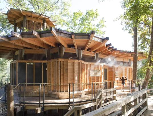 sustainable design, green design, treehouse, green building, lord aeck and sargent, camp twin lakes