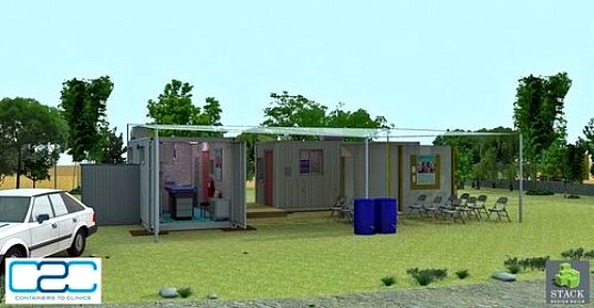 humanitarian design, health care, health clinic, medical care developing countries, shipping container, recycled materials, container 2 clinic, humanitarian design, medical missions, medical care abroad, non profit medical organization