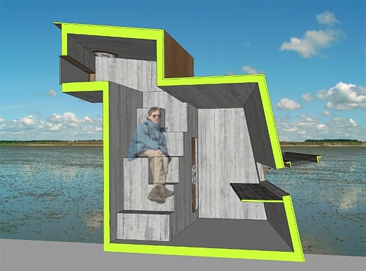 sustainable design, green design, wadden sea, guggenheim design it shelter competition, david eltang, seashelter