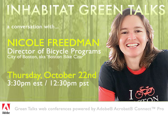 GREENTALKSNicoleFreed, green talks, public bike sharing, bike sharing, bike, green bike, nicole freedman, boston