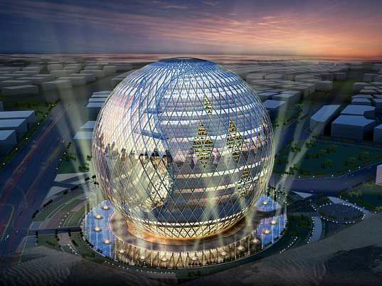 technosphere, james law, james law cybertecture, eco-shere, eco-dome, dubai, ecosystem, solar panels, gardens, mixed-use building